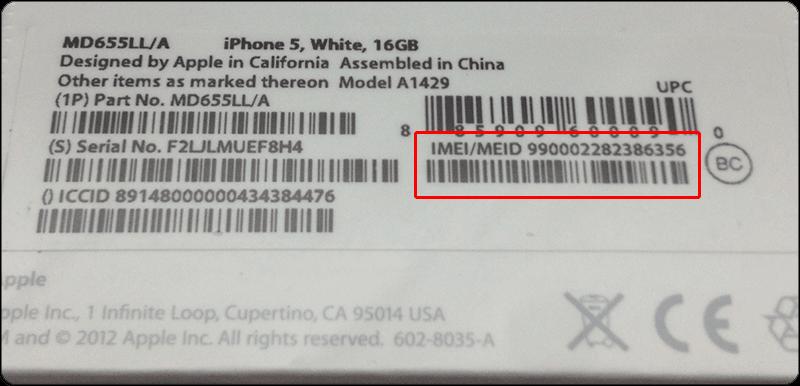 Så här kan du hitta ditt Iphone IMEI på kartongen.